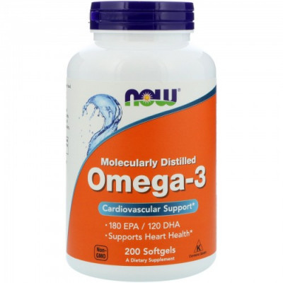 NOW Omega-3 1000 mg  200 cap