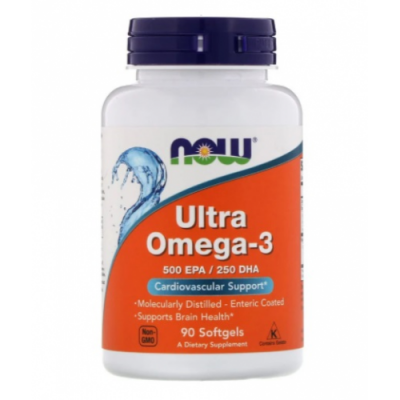 NOW ULTRA OMEGA-3 FISH OIL 90SOFTGELS